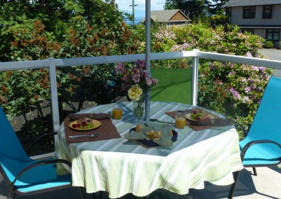 Eating on your sundeck